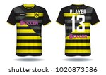 soccer jersey template. mock up ... | Shutterstock .eps vector #1020873586