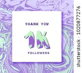 1k followers thank you square... | Shutterstock .eps vector #1020877276