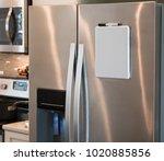 stainless steel refrigerator... | Shutterstock . vector #1020885856