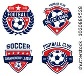 set of soccer  football emblems.... | Shutterstock .eps vector #1020889528