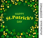 holiday st patricks day poster. ... | Shutterstock .eps vector #1020899602