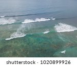 Aerial View Of Wave In Clear...