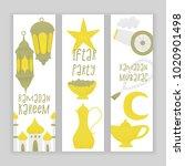 ramadan kareem iftar party ... | Shutterstock .eps vector #1020901498