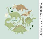 dinosaurs vector design ... | Shutterstock .eps vector #1020902086