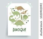 dinosaurs vector design ... | Shutterstock .eps vector #1020902092