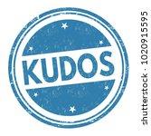 kudos sign or stamp on white... | Shutterstock .eps vector #1020915595