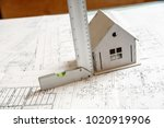 image of small white toy model...   Shutterstock . vector #1020919906