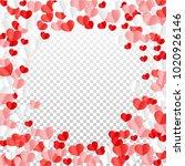 hearts random background. st....   Shutterstock .eps vector #1020926146