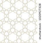 seamless ornamental vector... | Shutterstock .eps vector #1020927328