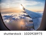 flying and traveling  view from ... | Shutterstock . vector #1020928975