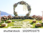 wedding day setup | Shutterstock . vector #1020931075