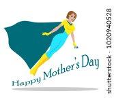 happy mother day | Shutterstock .eps vector #1020940528