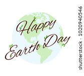 happy earth day | Shutterstock .eps vector #1020940546