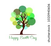 happy earth day | Shutterstock .eps vector #1020940606