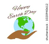 happy earth day | Shutterstock .eps vector #1020940612