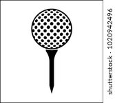 golf ball on tee icon raster... | Shutterstock . vector #1020942496