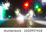 view of blurred road with lots... | Shutterstock . vector #1020957418