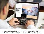 businessman planning a travel... | Shutterstock . vector #1020959758