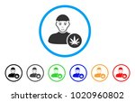 cannabis dealer rounded icon.... | Shutterstock .eps vector #1020960802