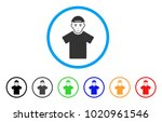 guy rounded icon. style is a... | Shutterstock .eps vector #1020961546