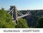 Historic landmark of The Clifton Suspension Bridge in the Clifton area of the City of Bristol, UK