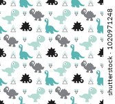 cute kids pattern for girls and ... | Shutterstock .eps vector #1020971248