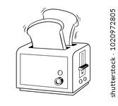 toaster with toasts coloring...   Shutterstock .eps vector #1020972805