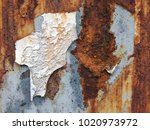 corroded white metal background.... | Shutterstock . vector #1020973972