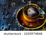 coffee mug with reflection of a ... | Shutterstock . vector #1020974848