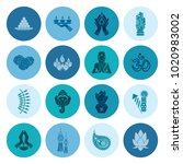 diwali. indian festival icons.... | Shutterstock .eps vector #1020983002