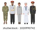 five american soldiers in... | Shutterstock .eps vector #1020990742