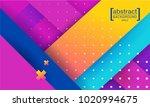 hipster modern geometric... | Shutterstock .eps vector #1020994675
