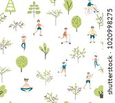 active lifestyle  sports... | Shutterstock .eps vector #1020998275