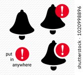 bell icons. notification icon.... | Shutterstock .eps vector #1020998896