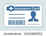 insurance medical card.  | Shutterstock .eps vector #1021000552