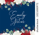 """wedding floral invite ... | Shutterstock .eps vector #1021000972"