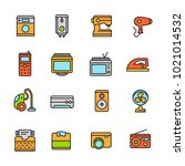 home appliance colorful line... | Shutterstock .eps vector #1021014532