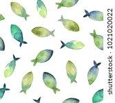 watercolor seamless pattern.... | Shutterstock . vector #1021020022