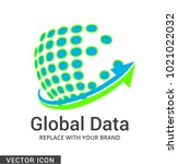 digital company logo icon | Shutterstock .eps vector #1021022032