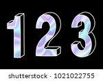 modern numbers set  number 123  ...   Shutterstock .eps vector #1021022755