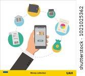 mobile banking concept. ... | Shutterstock .eps vector #1021025362