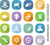 flat vector icon set   pointer... | Shutterstock .eps vector #1021026322