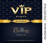 vip party premium invitation...   Shutterstock .eps vector #1021027612