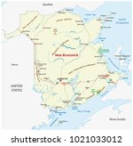 road map of the canada atlantic ... | Shutterstock .eps vector #1021033012