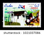 Small photo of MOSCOW, RUSSIA - NOVEMBER 25, 2017: A stamp printed in Cuba shows Literacy Campaign, Literacy Campaign serie, circa 2002