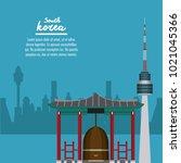 south korea infographic   Shutterstock .eps vector #1021045366