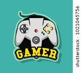 gamer gamepad technology | Shutterstock .eps vector #1021045756