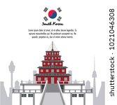 south korea infographic | Shutterstock .eps vector #1021046308