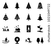 solid vector icon set  ... | Shutterstock .eps vector #1021049722