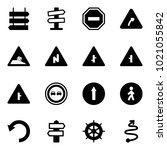 solid vector icon set   sign... | Shutterstock .eps vector #1021055842